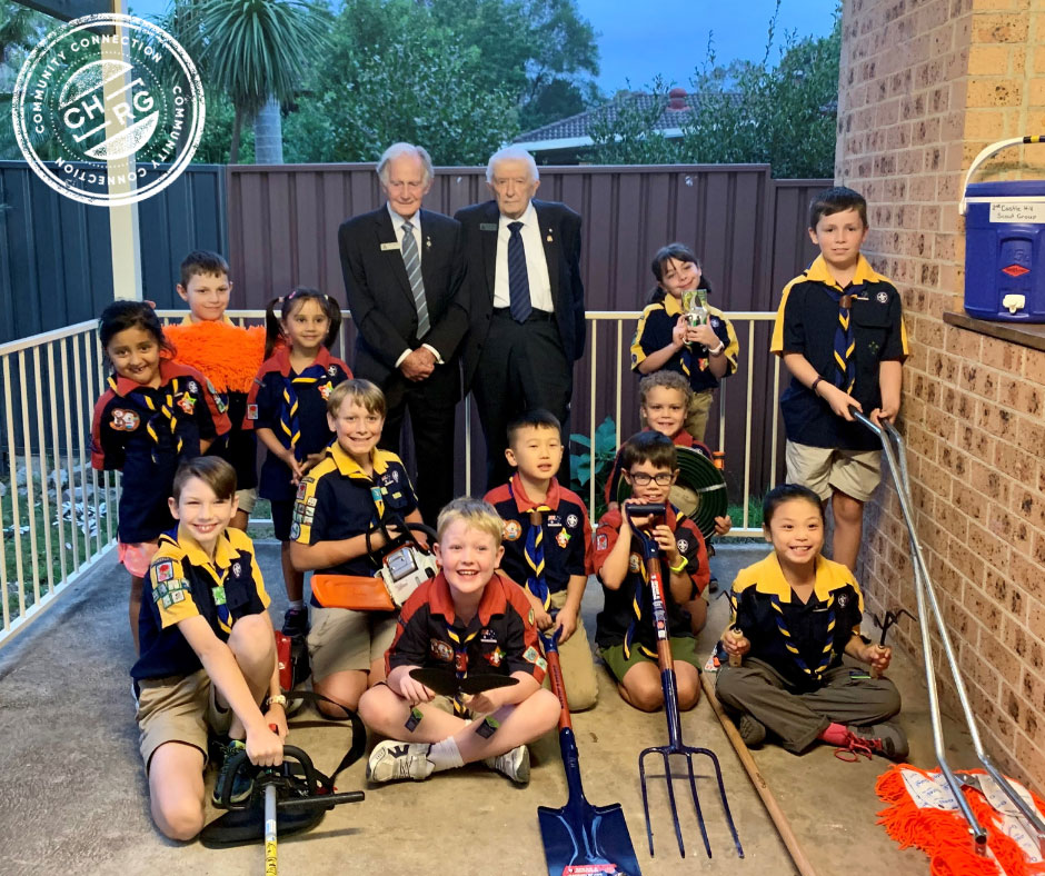 2nd Castle Hill Scout Group supported by CHRG's Community Connection Program